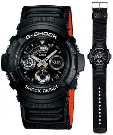 Casio G-Shock watch AW-591MS-1|Cloth band designs| NEW| AW591MS