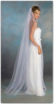 NEW Bridal Wedding VEIL - White or Ivory, 1 Layer, Waltz Length, Pencil Edge