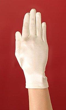 White Wrist Length Bridal Wedding Gloves