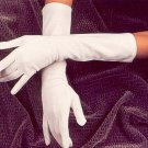 White Below the Elbow Bridal Wedding Gloves
