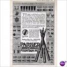 Parker Fountain Pen Co Janesville, Wi 1918 full page ad E109