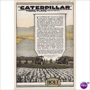 Caterpillar 1918 full page ad by McCarthy Peoria, Illinois E114