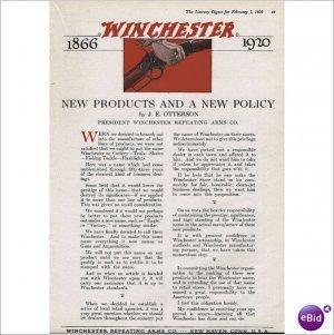 1920 Winchester Arms Co 1866 1920 full page color ad E119