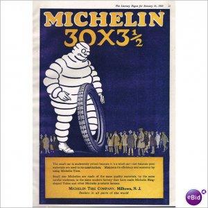 Michelin Tire Milltown, N.J. 1920 full page color ad E127