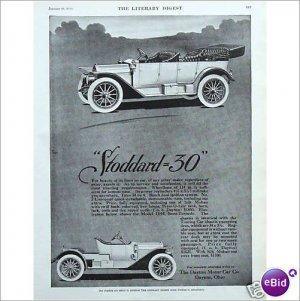 Stoddard 30 Automobile 1911 Dayton Ohio full page ad E134