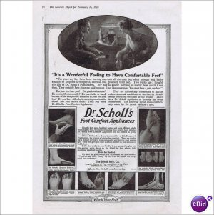 Dr Scholl's foot comfort 1918 full page ad E143