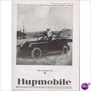 Hupmobile automobile thrasher machine 1918 full page ad E144