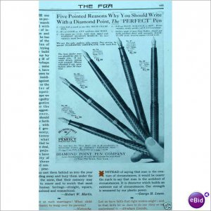 A Diamond Point Pen Company New York City 1913 ad  E163