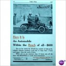 Maxwell model AA Runabout car page ad 1910 Tarrytown E164