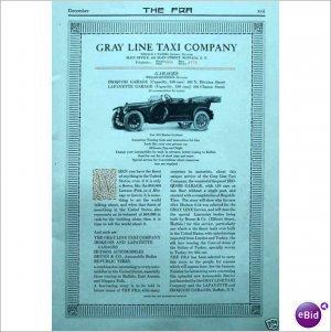 1913 Gray Line Taxi Company Buffalo New York 1 page ad E166