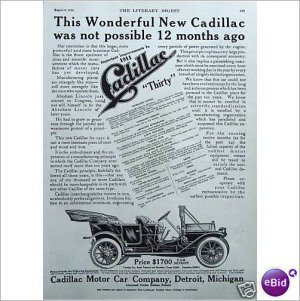 1911 Cadillac model 30 full page ad  E169