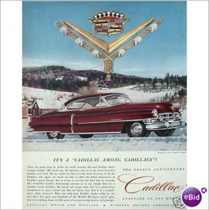 Cadillac Golden Anniversary 1952 full page color ad  E185
