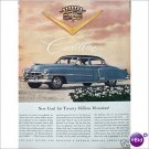 1952 Cadillac Golden Anniversary full page color ad E187