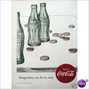 1952 Coca Cola Coke classic bottle full page color ad  E188