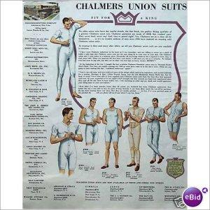 Chambers Union Suits large format 1948 1 page color ad  E190