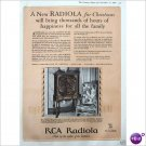 RCA Radiola model 62 1928 full page color ad  E196