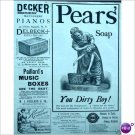 Pears Soap cute YOU DIRTY BOY 1888 ad  E197