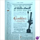 Conklins self filling fountain pen 1912 one color ad  E200