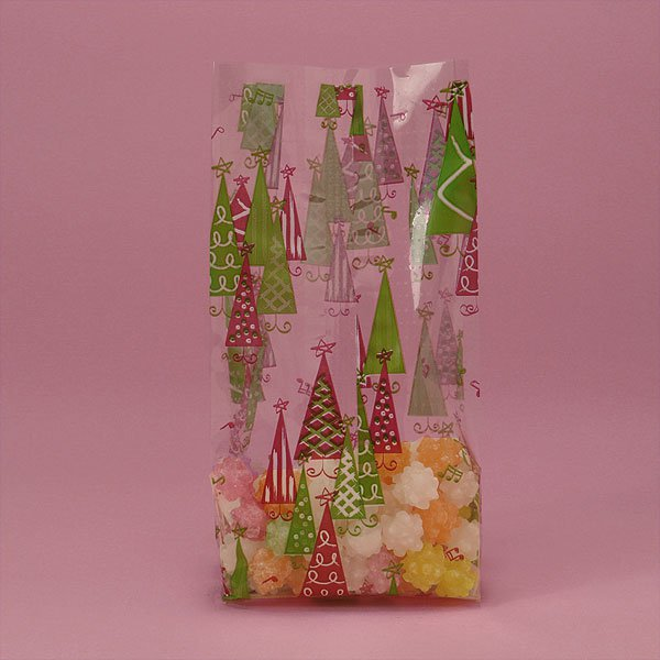 "Rockin Christmas Trees Cello Bags 100 cnt $19.99, 3.5"" x 7.5"" size"