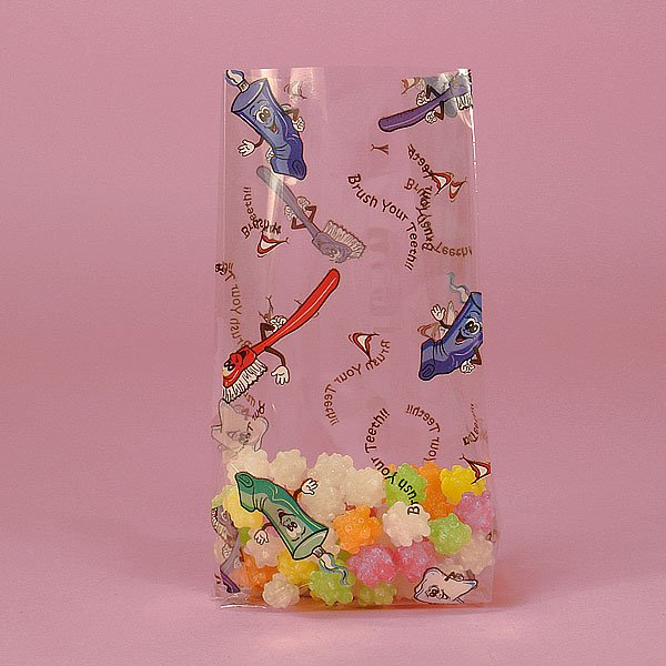 """Brush Your Teeth Cello Bags 100 cnt, 3.5"""" x 7.5"""" size"""