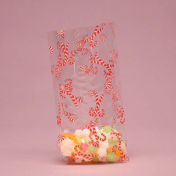 "Christmas Mint Cello Bags 100 cnt, 3.5""x 7.5"" Size"