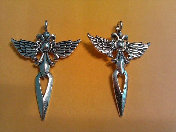 Winged Cross Sword Charms lot 5/$6.25 per lot