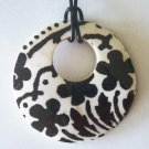 BLACK ON WHITE SHELL NECKLACE #50