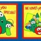 "Veggie Tales Fabric  Pillow Tops Panels  ""God Made You Special"""