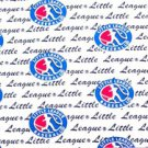 Little League Baseball Sport Logo Fabric FQ