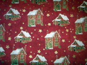 Christmas Village Fabric - Brother Sister Studio