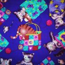 Cat in the shopping BAG, CATS Fabric FQ