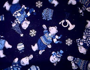 Christmas Polar Bear, Trumpet Fabric FQ