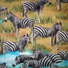 Realistic Zebras Fabric FQ