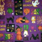 Halloween Skeleton, Black Cat, Pampkin Patch Fabric FQ