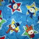 CHRISTMAS SNOWMEN IN A STARS Fabric FQ