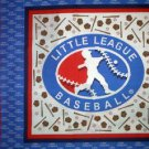 Little League Baseball pillow fabric panels