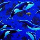 Whales, dolphins, porpoises Fabric Fat Quarter FQ