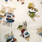 BBQ Pigs Cotton Fabric FQ -rare