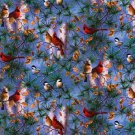 Christmas winter birds, cardinal Fabric FQ