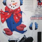 Sammy Snowman  fabric door panel - D. Kingdom