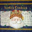 CHRISTMAS Santa's Cookies Fabric Pillow panels