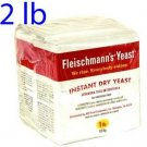 Fleischmann's Instant Dry Yeast - 2 lb (2 x 1 pound) - Two One Pound Bags