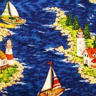 Lighthouse Iseland Sailboat Fabric  FQ