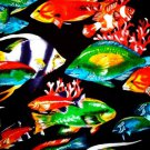 "COASTAL REEFS"" TROPICAL FISH Fabric - R. KAUFMAN"