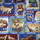 Furry Friends Kitty Cats, Puppy Dogs Fabric FQ - Teresa Kogut