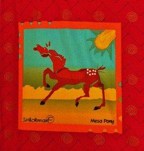 Mesa Pony Fabric Block Panel S Hickman Horses