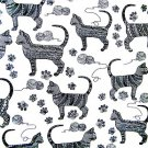 FRESHLY MODERN CATS  Fabric FQ - M'LISS