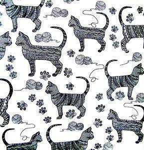 FRESHLY MODERN CATS  Fabric FQ - M'LISS