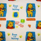 DISNEY Pooh Sunny Days Bees and Hunny Fabric FQ