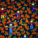 Halloween Scarecrow on pumkin field Fabric